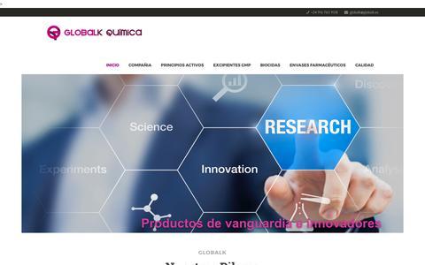 Screenshot of Home Page globalk.es - Globalk - captured July 11, 2017