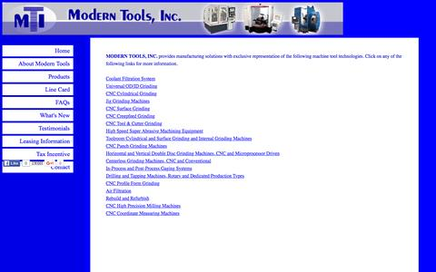 Screenshot of Products Page moderntools.com captured Feb. 14, 2016