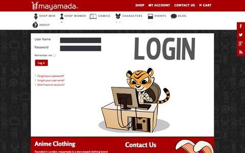 Screenshot of Login Page mayamada.com - mayamada | mayamada - captured Sept. 30, 2014