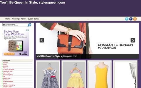 Screenshot of Home Page stylesqueen.com - You'll Be Queen In Style, stylesqueen.com - captured Sept. 23, 2014