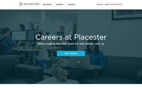 Screenshot of Jobs Page placester.com - Careers - captured Feb. 25, 2016