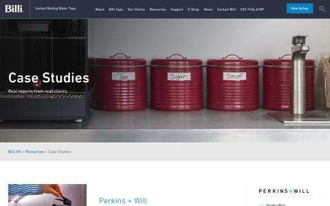 Screenshot of Case Studies Page billi-uk.com - Case Studies | Billi UK - captured Oct. 10, 2017
