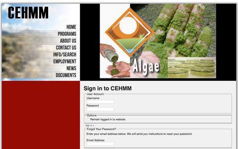 Screenshot of Login Page cehmm.org - CEHMM :: Login - captured Oct. 30, 2016