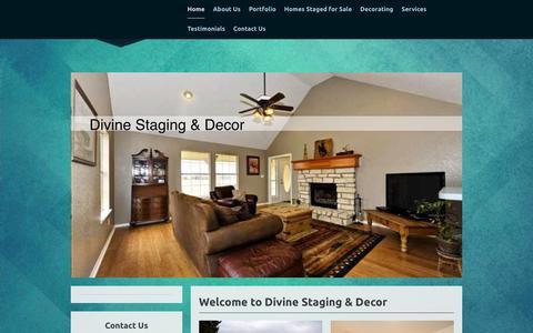 Screenshot of Home Page divinestaginganddecor.com - Divine Staging & Decor - Home - captured Nov. 14, 2018