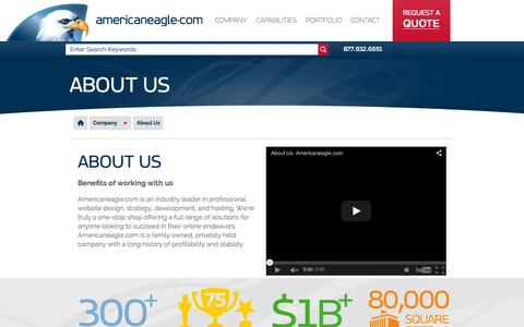 Screenshot of About Page americaneagle.com - About Us | Americaneagle.com - captured Oct. 3, 2015