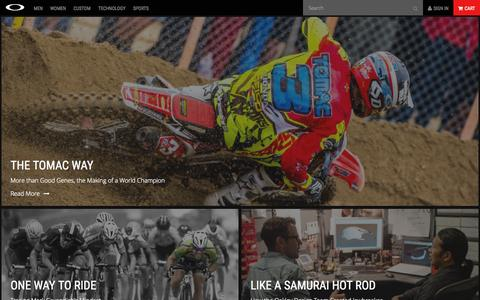 Screenshot of Blog oakley.com - Oakley Inc. | Official Oakley Site - captured Oct. 2, 2015