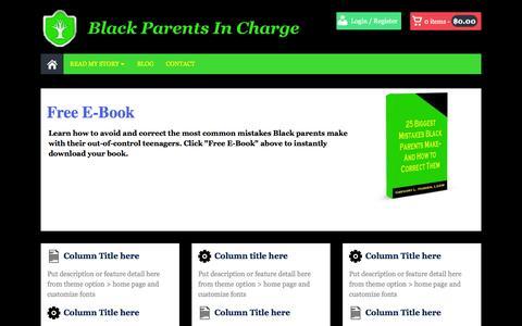 Screenshot of Home Page blackparentsincharge.com - Black Parents In Charge - captured Sept. 25, 2014