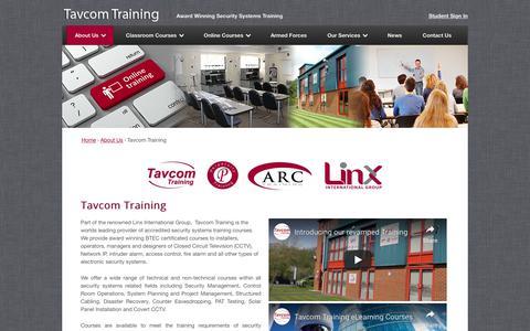Screenshot of About Page tavcom.com - Tavcom Training - Tavcom Training - captured Oct. 19, 2018