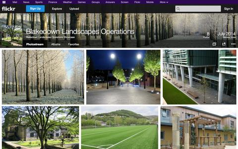 Screenshot of Flickr Page flickr.com - Flickr: Blakedown Landscapes Operations Showcase's Photostream - captured Oct. 23, 2014