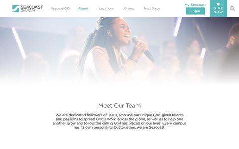 Screenshot of Team Page seacoast.org - Our Team | Seacoast Church - captured Oct. 2, 2018
