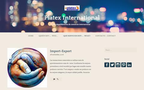 Screenshot of Blog wordpress.com - Entradas – Platex International - captured Sept. 19, 2017