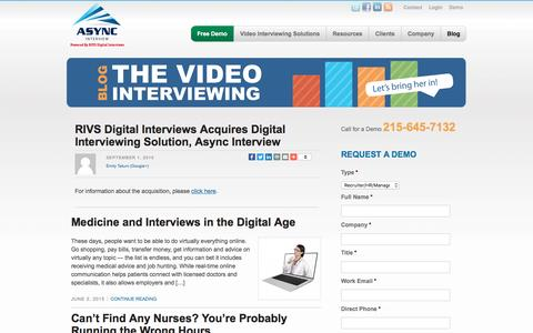 Screenshot of Blog asyncinterview.com - Video Interviewing Blog | Async Interview - captured July 27, 2016
