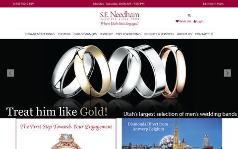 Screenshot of Home Page seneedham.com - S.E. Needham:  Home - captured Sept. 25, 2017