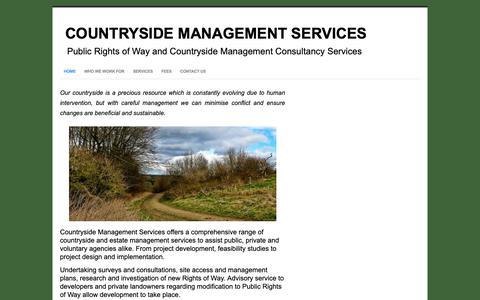Screenshot of Home Page countrysidemanagementservice.co.uk - Home - Countryside Management Services - captured Sept. 29, 2018