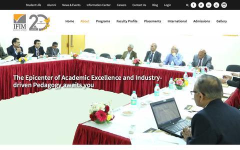 Screenshot of About Page Team Page ifimbschool.com - IFIM B School - captured Dec. 19, 2015
