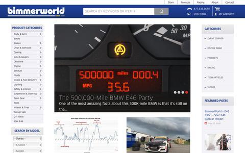 Screenshot of Press Page bimmerworld.com - Bimmerworld News, Projects & Tech - Race Proven Performance - captured July 29, 2016