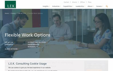 Flexible Work Options | L.E.K. Consulting