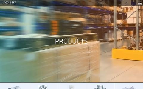 Screenshot of Products Page accu-serv.com - Products - - captured Dec. 23, 2015