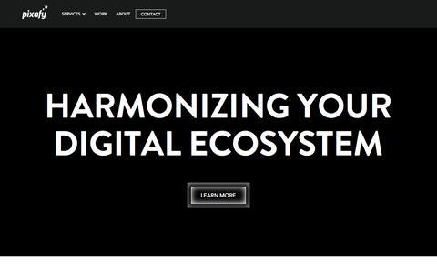 Screenshot of Home Page pixafy.com - Magento B2B eCommerce Development Agency - Technology Partner NY : Pixafy - captured April 9, 2016