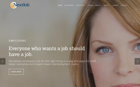 Screenshot of Home Page nextjob.com - NextJob - captured Aug. 15, 2015