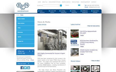 Screenshot of Press Page dcnorris.com - DC Norris - captured Oct. 27, 2014