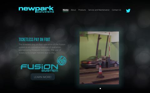 Screenshot of Home Page Privacy Page newparksolutions.com - Newpark Solutions Ltd | ANPR Car Park Systems - captured Oct. 9, 2014