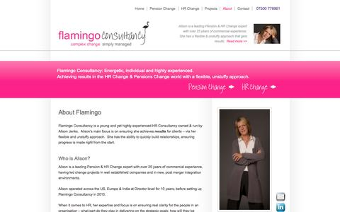 Screenshot of About Page flamingoconsultancy.co.uk - About | Flamingo Consultancy Ltd - captured Sept. 30, 2014