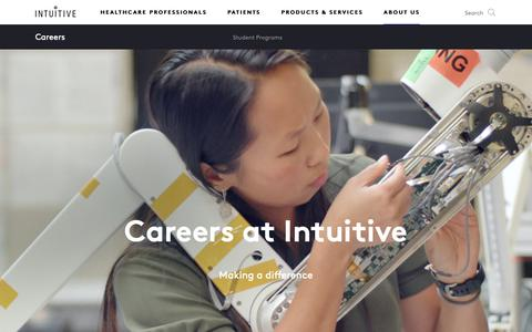 Screenshot of Jobs Page intuitive.com - Intuitive   Careers   Opportunities   Jobs - captured Feb. 16, 2019