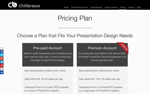 Screenshot of Pricing Page chillibreeze.com - Pricing Plan - captured Jan. 23, 2018