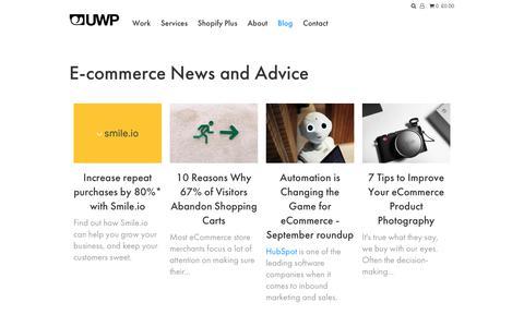 Screenshot of Blog underwaterpistol.com - E-commerce News and Advice – Underwaterpistol - captured Nov. 3, 2017
