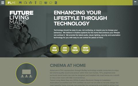 Screenshot of Home Page technoloje.com - Welcome to Future Living Made Easy - Technoloje - captured Oct. 6, 2014