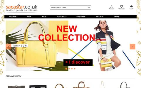 Screenshot of Home Page sacastar.co.uk - HANDBAGS 120 BRANDS - SACASTAR.CO.UK - captured Jan. 5, 2017