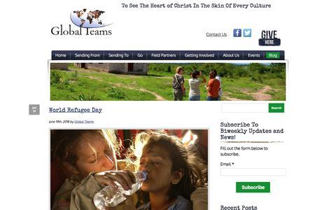 Screenshot of Blog global-teams.net - Global Teams   Blog - captured July 9, 2018