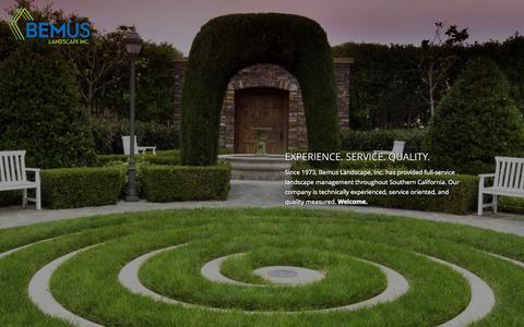 Screenshot of Home Page bemus.com - Bemus Landscape Inc. - captured Jan. 24, 2015