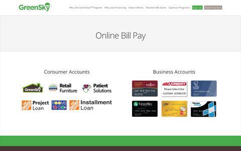 Pay Bill Online - GreenSky