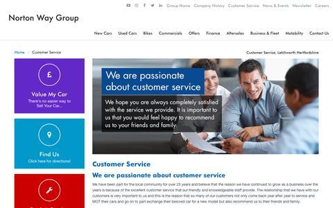 Screenshot of Support Page nortonway.com - Customer Service, Letchworth Hertfordshire | Norton Way - captured Oct. 27, 2017