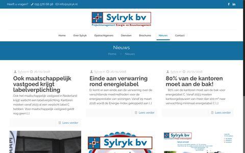 Screenshot of Blog sylryk.nl - Nieuws – Sylryk - captured Oct. 19, 2018