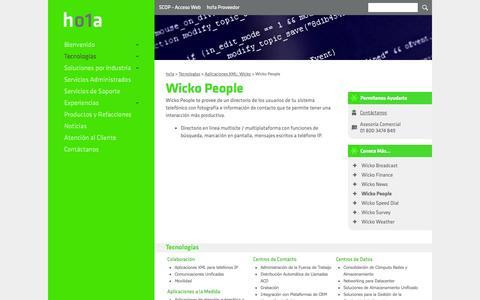 Screenshot of Team Page ho1a.com - Wicko People - ho1a - captured Sept. 30, 2014