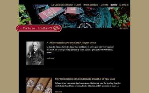 Screenshot of Press Page casadelhabanoantwerp.be - La Casa del Habano Antwerp - captured Sept. 30, 2014