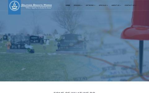 Screenshot of Home Page delphosgraniteworks.com - Delphos Granite Works - Home - captured Aug. 6, 2018