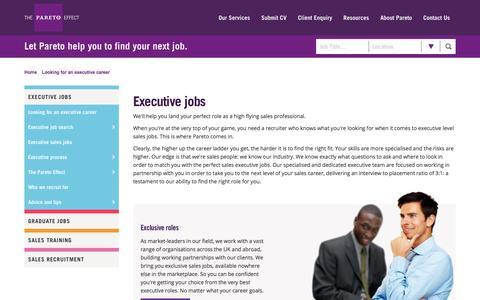 Sales Executive Careers | Sales Professional Jobs | Pareto