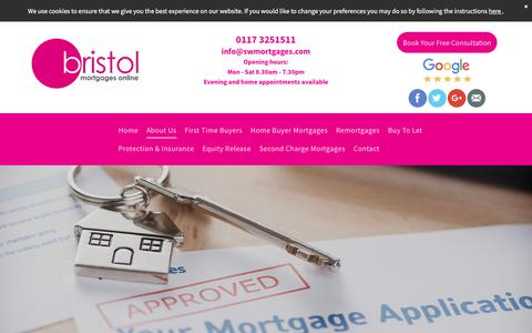 Screenshot of About Page bristolmortgagesonline.com - Whole of market independent Mortgage Brokers in Bristol - captured Aug. 4, 2018