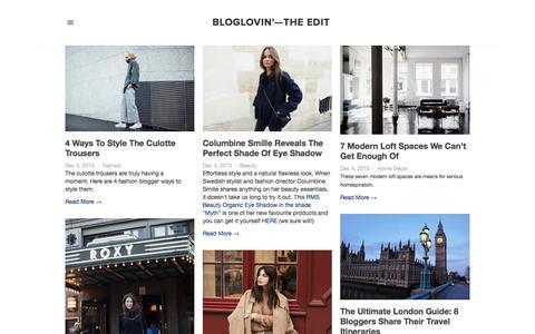 Screenshot of Blog bloglovin.com - Bloglovin'—the Edit - captured Dec. 5, 2015