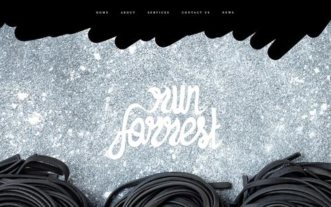 Screenshot of Home Page runforrest.com.au - Run Forrest - captured Sept. 21, 2018