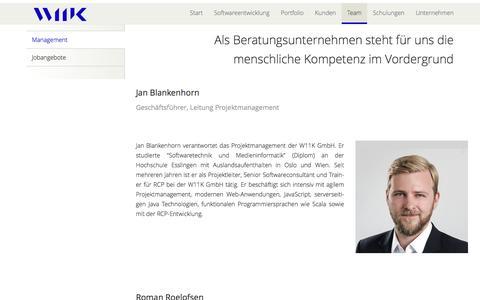 Screenshot of Team Page w11k.de - Unser Team - w11k GmbH - captured Dec. 14, 2016
