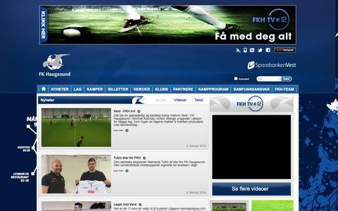 Screenshot of Press Page fkh.no - Nyheter  | Haugesund - captured Feb. 9, 2016