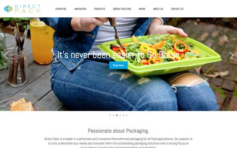 Screenshot of Home Page directpackinc.com - Start | Direct Pack Inc. - captured Aug. 7, 2018