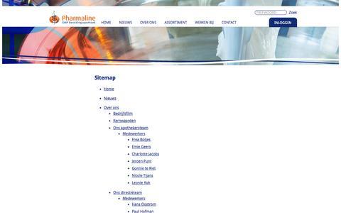 Screenshot of Site Map Page pharmaline.nl - Sitemap - captured Oct. 2, 2014