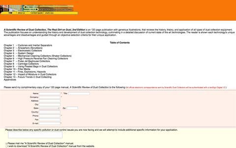 Screenshot of Landing Page scientificdustcollectors.com - Scientific Dust Collectors - Contact Form - captured Oct. 27, 2014