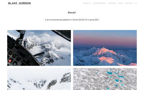 Screenshot of Team Page blakegordon.com - Denali — Blake Gordon Photography - captured Dec. 18, 2018